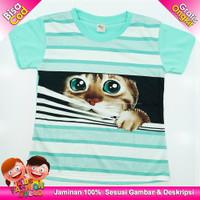 Atasan Anak Perempuan Kaos Anak / Baju Anak Perempuan Karakter Kucing