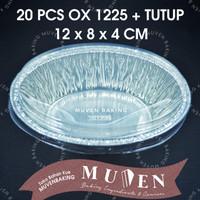 ALUMUNIUM FOIL TRAY OX 1225 + TUTUP / ALUMINIUM OX-1225 OX1225 + TUTUP