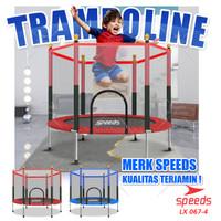 Trampoline Trampolin Speeds 55 140cm Trampolin Jump Fitness 067-04 - Merah-4