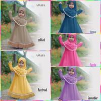 baju muslim gamis anak perempuan AMAYA . 2-5 tahun