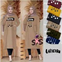 Atasan Muslim Wanita / Baju Tunik Unicorn XL Varian Warna