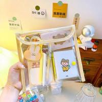 Transparan Pouch Cute Bag Map Bag Pencil Bag