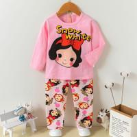 +/- 1 - 10 tahun Setelan piyama baju tidur anak perempuan Princess SW