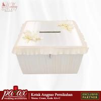 Kotak Uang Angpao Pernikahan - Natural Krem ( Tempat Amplop Resepsi )