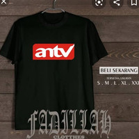 Kaos t-shirt logo tv (antv)