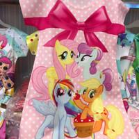 baju dress anak perempuan kuda poni berteman