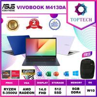 Asus Vivobook M413DA - Amd Ryzen 5 3500 8GB 512ssd Vega8 W10+OFFICE