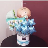 Baby Boy Balloon Bouquet | Buket Balon Baby Boy | Balon Baby Shower