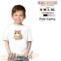 baju/kaos anak terbaru keren lucu bahan cotton combed gambar kucing 3