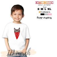 baju/kaos anak terbaru keren lucu bahan cotton combed gambar kucing 4
