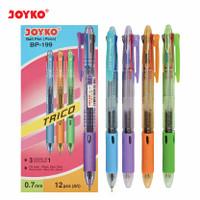 Joyko Ball Pen Trico 3 Colours / Bolpen Pen Joyko Warna Warni BP-199