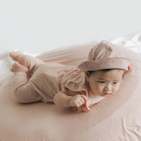 Jumper Bayi Perempuan Tencel - HAMAKO - Pale Blush Ruffle Suit