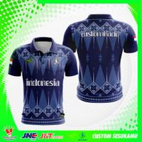 Baju Kaos Jersey Polo shirt Pria Wanita Custom Fullprint Motif Batik