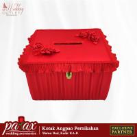 Kotak Uang Angpao Pernikahan - Merah ( Tempat Amplop Resepsi )