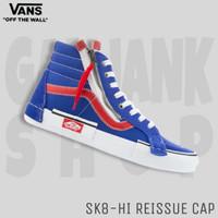 VANS Sk8-Hi Reissue CAP Blue/White Sepatu Kets Pria 100% Original BNIB