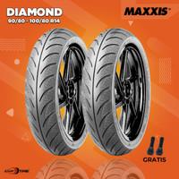 Paket Ban Motor Matic / MAXXIS DIAMOND MA-3DN 90/80-100/80 R14 Tubeles