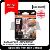 HS1 Osram Headlamp Led Lampu Motor H4 6000k Putih 12v PnP Hi Low