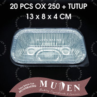 ALUMUNIUM FOIL TRAY OX 250 + TUTUP / ALUMINIUM OX-250 OX250 + TUTUP