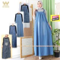 BARU Over all jeans cantik ld108-112 pb135   Baju kodok jins wanita  