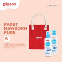 PIGEON Paket Newborn Pure - B (Wash + Lotion)