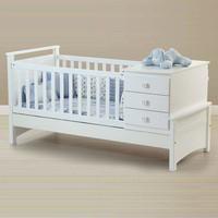 box bayi kayu cat putih minimalis