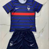 Stelan Jersey Baju Bola Kids Kid Anak Kecil Timnas Prancis Home 2021