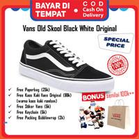 Sepatu Vans Oldskool Original black white EVB