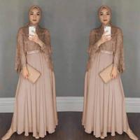 Baju Kondangan Muslim Wanita Cowok/Couple Kapel/ HOPYLOVY - Maxi Dress