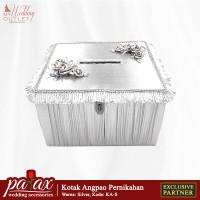 Kotak Uang Angpao Pernikahan - Perak ( Tempat Amplop Resepsi )