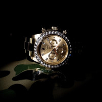 Bape Type 4 Bapex Diamond Gold Watch 42 mm