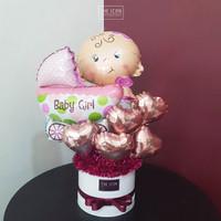 Baby Girl Balloon Bouquet | Buket Balon Baby Girl | Balon Baby Shower