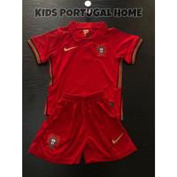 Stelan Jersey Baju Bola Kids Kid Anak Kecil Timnas Portugal Home 2021