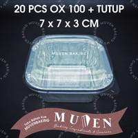 ALUMUNIUM FOIL TRAY OX 100 + TUTUP / ALUMINIUM OX-100 OX100 + TUTUP