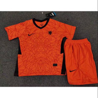 Stelan Jersey Baju Bola Kids Kid Anak Kecil Timnas Belanda Home 2021