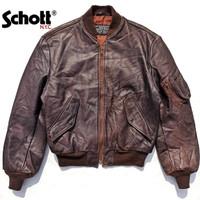 SCHOTT® MA1 Leather Bomber Jacket X Jaket Kulit Avirex Buzz Rickson