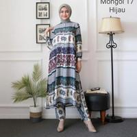 Toko Baju Wanita Muslim Set Mongol Fashionable Remaja Putri Laris - Maron, L