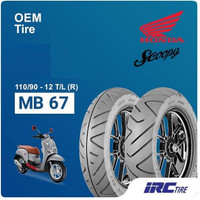 BAN IRC 110/90-12 TUBLESS MB67 UNTUK MOTOR SCOOPY , FREE GO