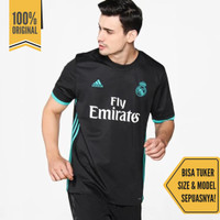 Kaos Jersey Atasan Baju Olahraga Bola Adidas BR3543 Real Madrid Black