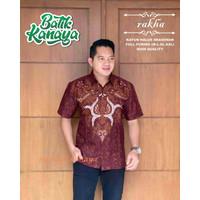 Baju Batik Pria Lengan Pendek RAKHA By Kanaya Lapis Furing