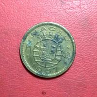 koin asing 5 avos Macau Portugis 1967 TP 4616