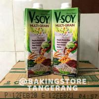 Vsoy Susu Kedelai Multi Grain   V-soy Soya Milk 1 Liter UHT