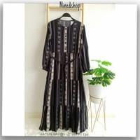 Baju Dress Katun Rayon Cewe/Gamis Fashion Motif Wanita Terbaru