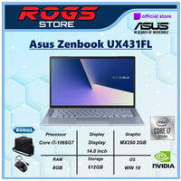 Asus Zenbook UX431FL i7 10510U 8GB 512ssd MX250 2GB W10 14 BLUE