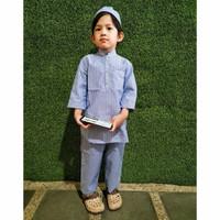 setelan baju koko anak laki laki Jabbar 1-6 tahun - baju muslim anak