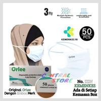 Masker 3 Ply Hijab Headloop KEMENKES RI ORLEE - 50 Pcs
