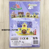 3D Puzzle DIY Little Vila - Series 2611J - Mainan Edukasi Anak - Tembok Kuning