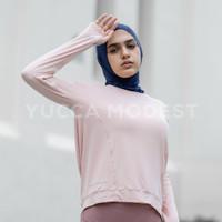 Sport Yoga Top Baju Senam Olahraga Lengan Panjang Wanita -Yucca Modest