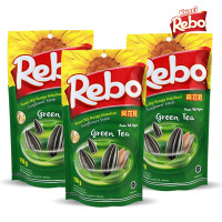 Rebo Kuaci Bundling 3 PCS - Varian Rasa Green Tea 150 Gram