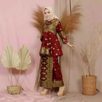 Batik songket setelan Batwing