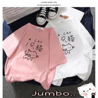 YS || Atasan big size/ baju big size /kaos jumbo gambar kucing